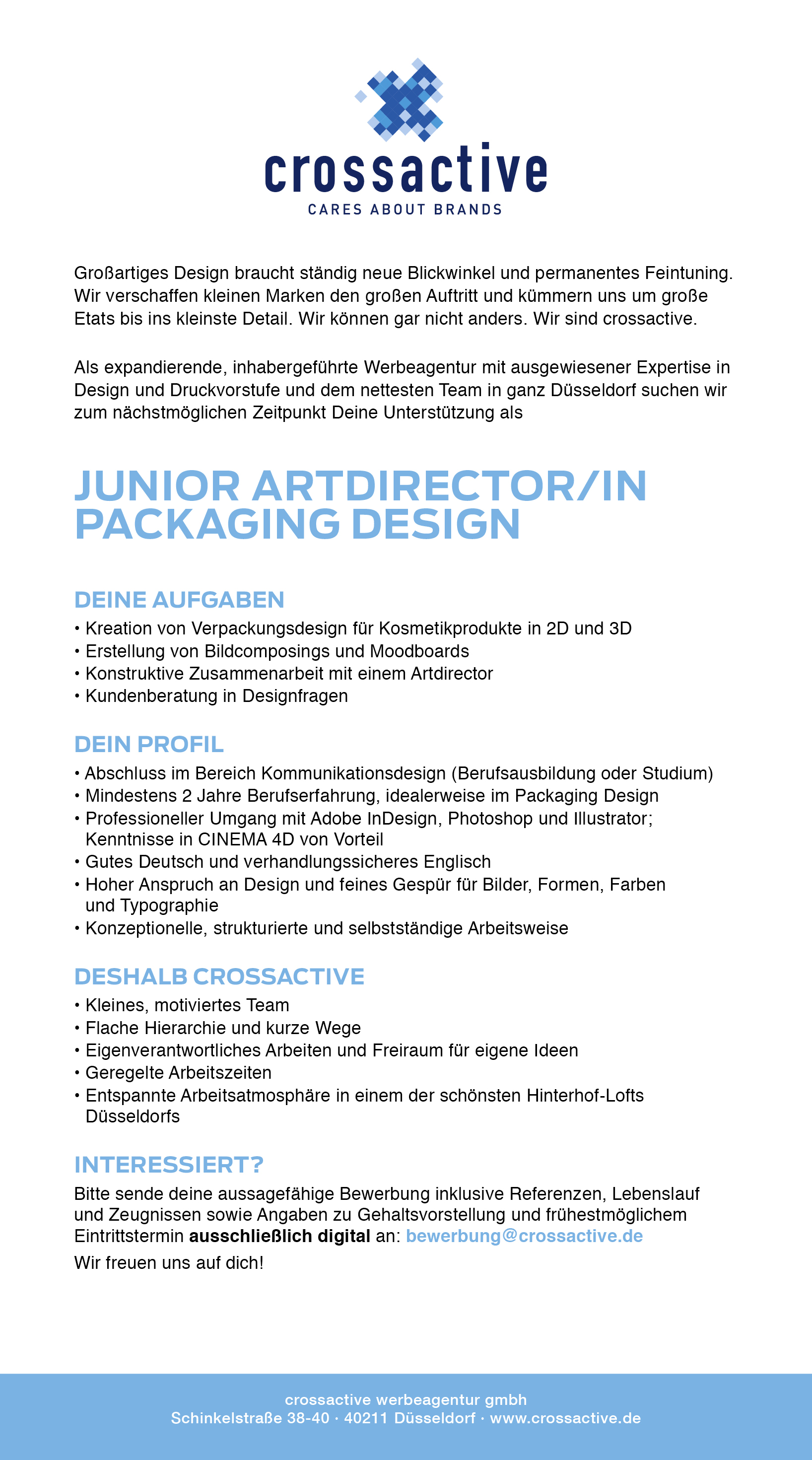 Junior Artdirector/in